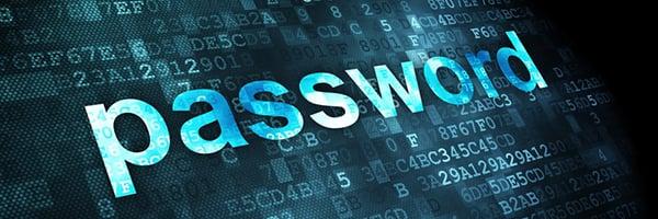 Information concept: password on digital background