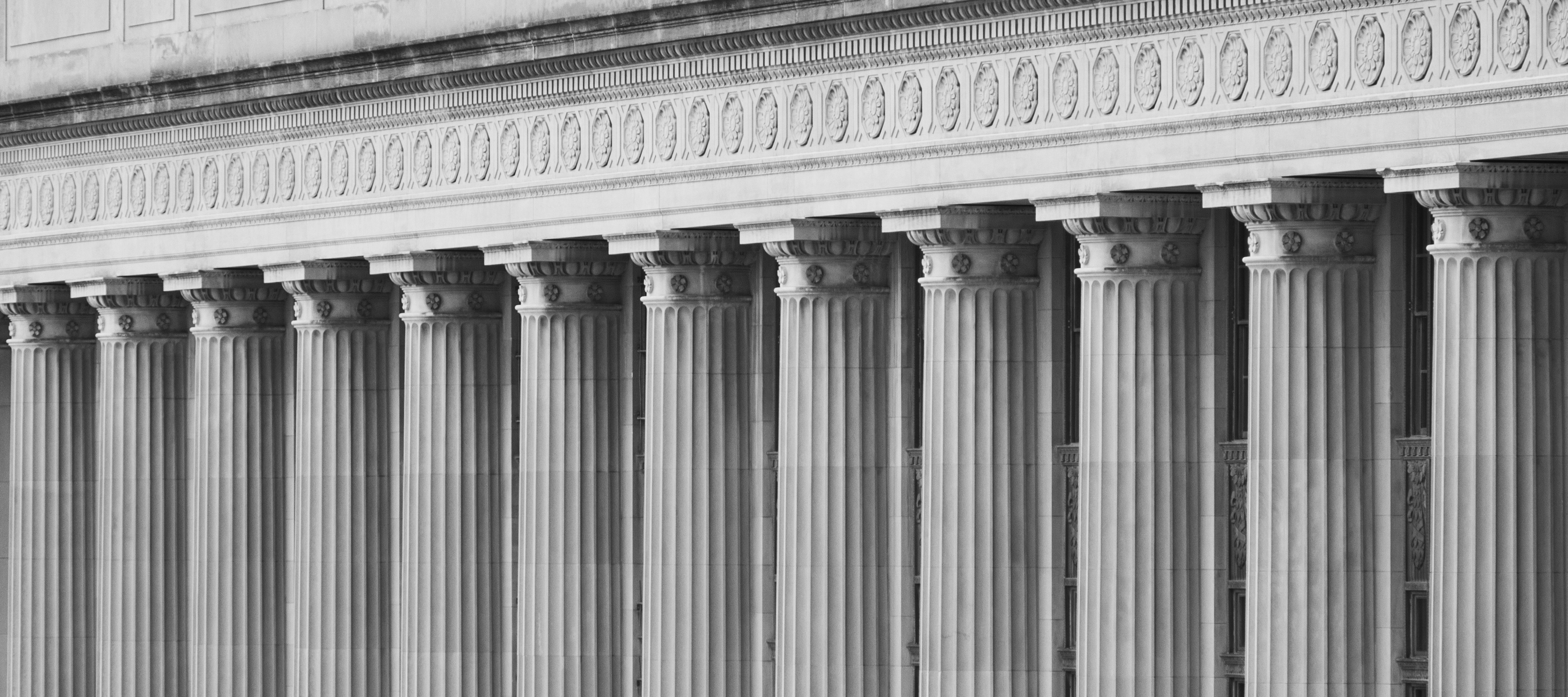 Doric Ionic Columns on a Federal Government Building