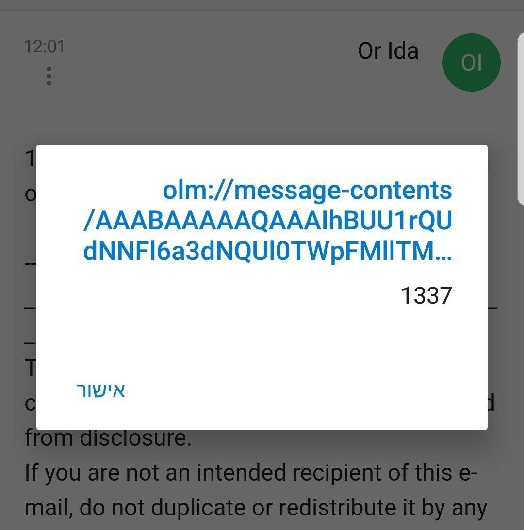 Outlook for Android XSS | CyberArk