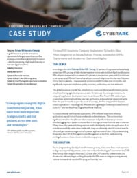 Fortune 100 Insurance Company Implements CyberArk and BluePrism
