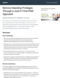 Remove Standing Privileges Through a Just-in-Time PAM Approach