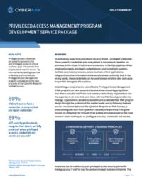 Privileged Access Management Program Development Service Package
