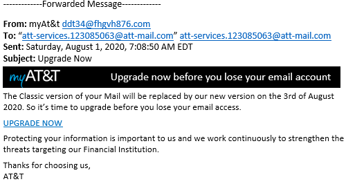 Email Phishing Attack Example